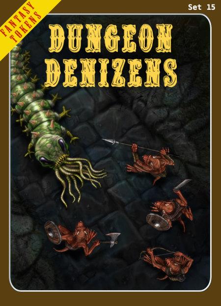 Fantasy Tokens Set 15, Dungeon Denizens
