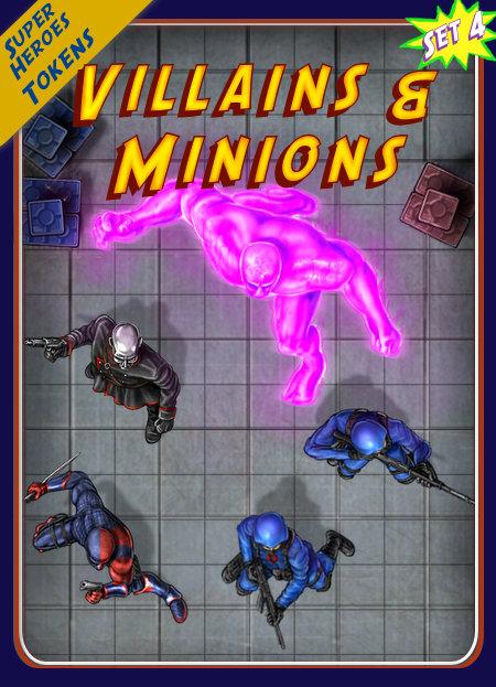Superheroes Tokens Set 4, Villains & Minions