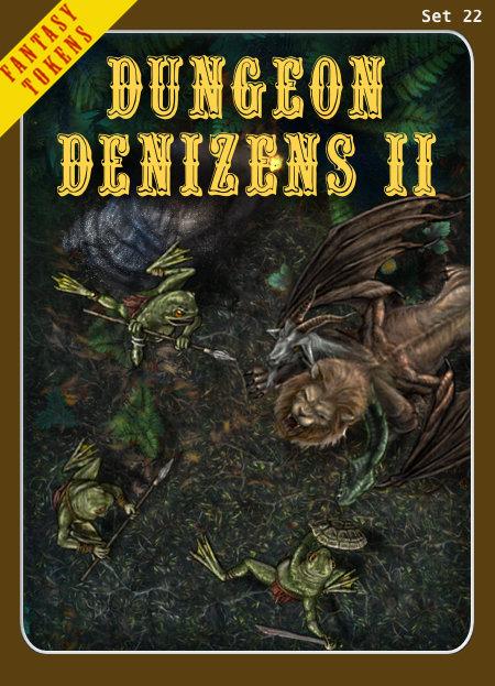Fantasy Tokens Set 22, Dungeon Denizens 2