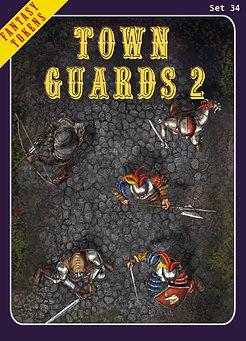Fantasy Tokens Set 34, Town Guards 2