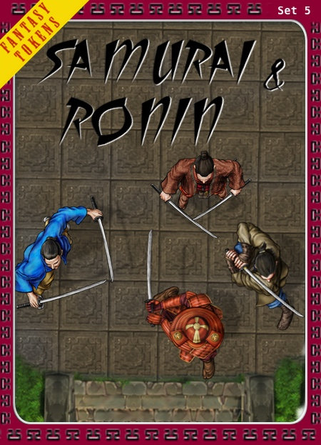 Fantasy Tokens Set 5, Samurai & Ronin