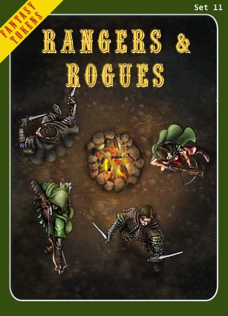 Fantasy Tokens Set 11, Rangers & Rogues