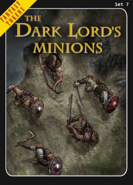 Fantasy Tokens Set 7, The Dark Lord's Minions