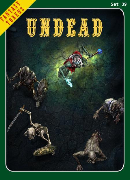 Fantasy Tokens Set 39, Undead