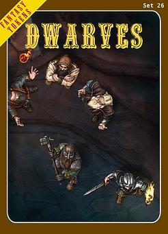 Fantasy Tokens Set 26, Dwarves