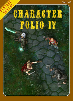 Fantasy Tokens Set 40, Character Folio 4