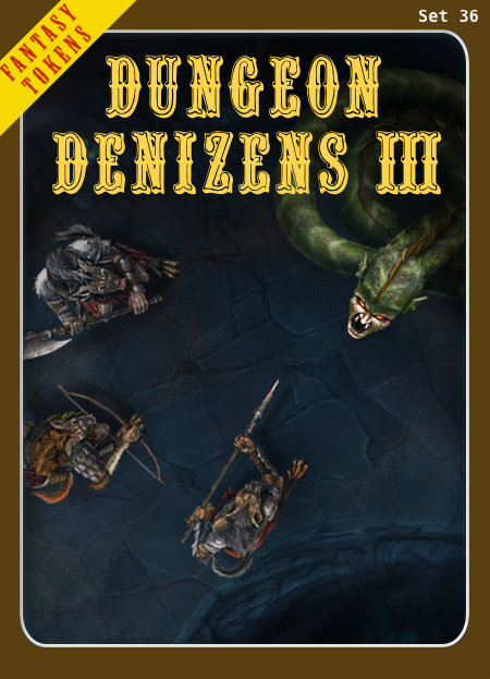 Fantasy Tokens Set 36, Dungeon Denizens 3