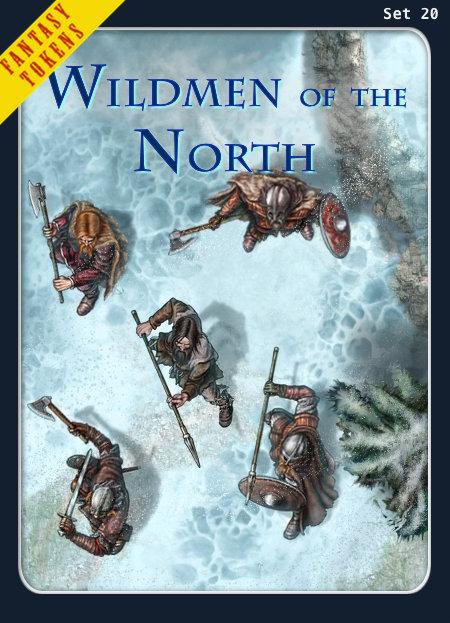 Fantasy Tokens Set 20, Wildmen of the North