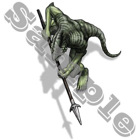 Lizardman,Spear