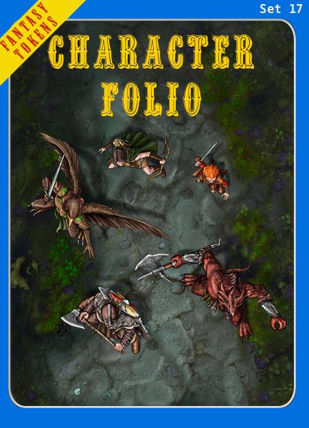 Fantasy Tokens Set 17, Character Folio