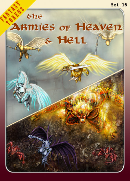 Fantasy Tokens Set 16, The Armies of Heaven & Hell