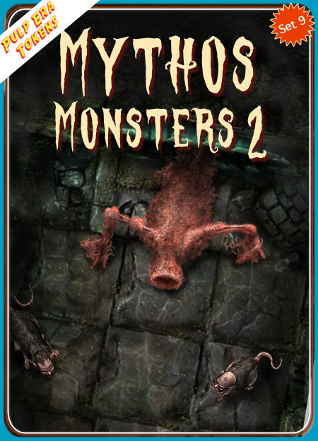 Pulp Era Tokens Set 9, Mythos Monsters 2