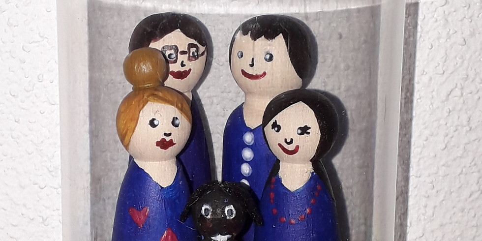 Peg Doll Gezin In Stolp