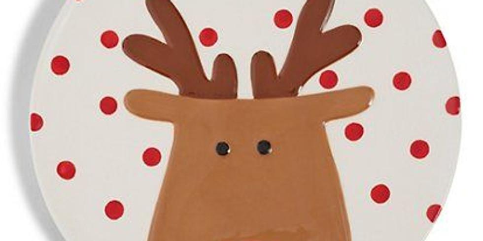Kerstbord verven met porseleinverf