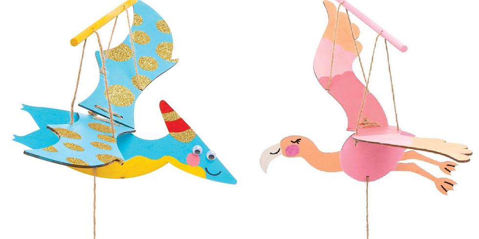 Vliegende flamingo/dino