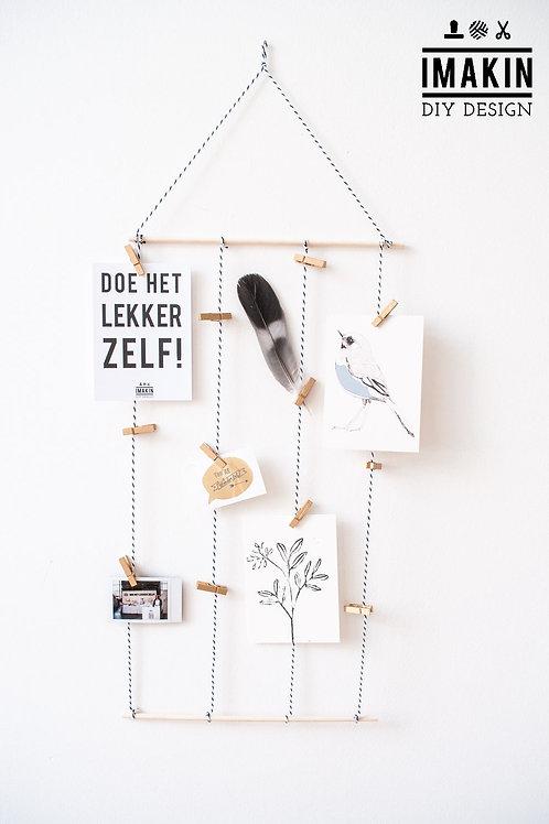 MINI DIY PAKKET KAARTENHANGER