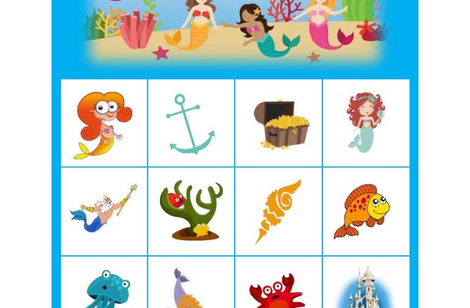 Zeemeermin bingo