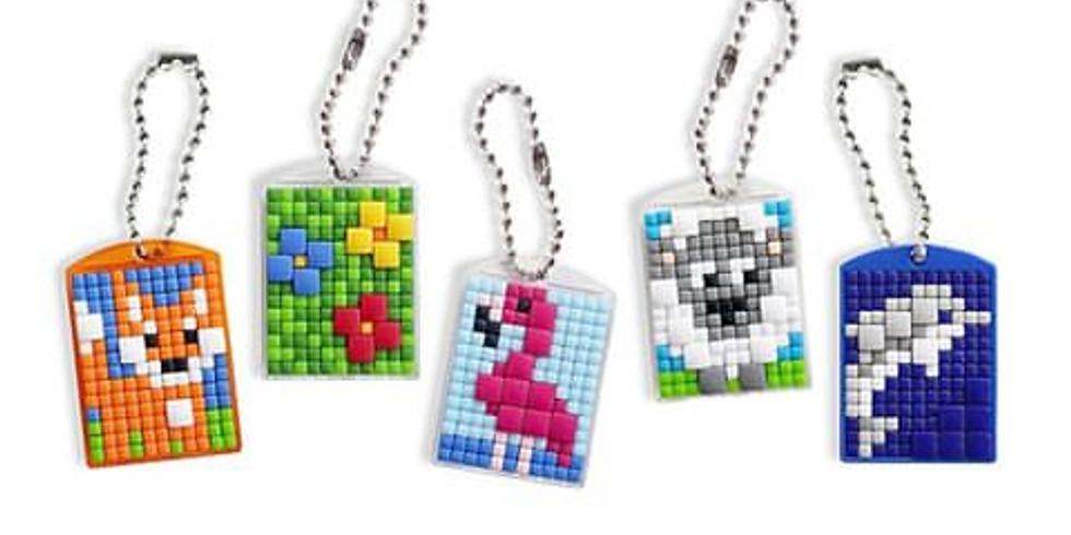 Sleutelhanger pixelen