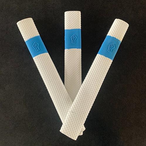 3 PACK WHITE & BLUE DUNAMIS BAT GRIPS