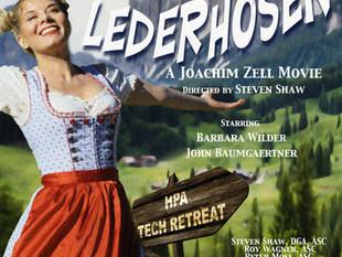 "Barbara working with three ASC members on movie ""Lost Lederhosen"", starring as Heidi!"