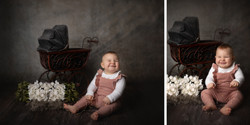 Babyfotos als Collage