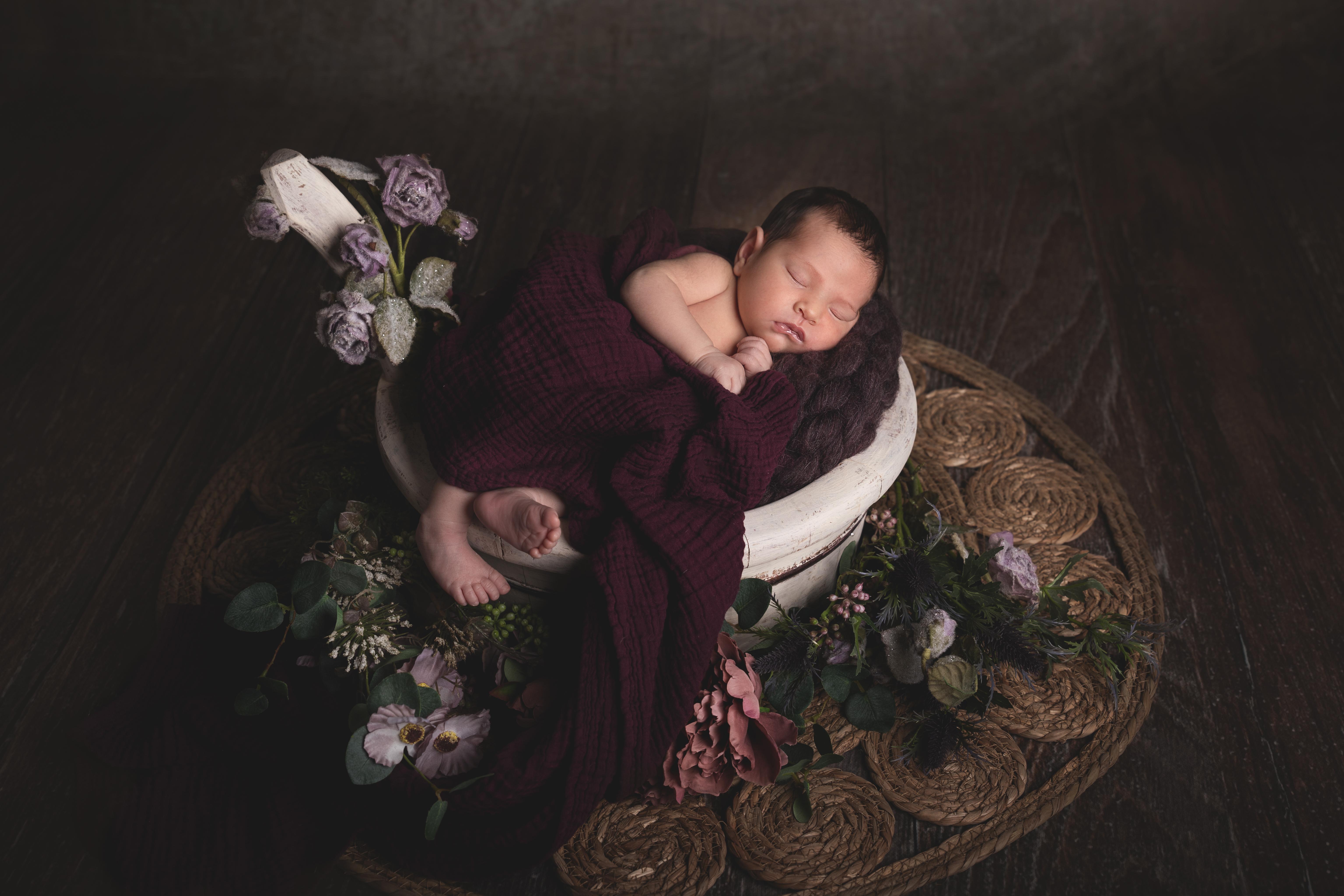 Romantische Newborn Foto