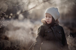 Winterliches Kinderfoto