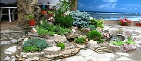 Ландшафтный дизайн-проект с природным камнем