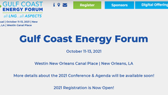 11-13 October 2021: LDC Gulf Coast Energy Forum - New Orleans