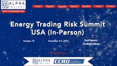 3-5 November 2021: Energy Trading Risk Summit (USA)