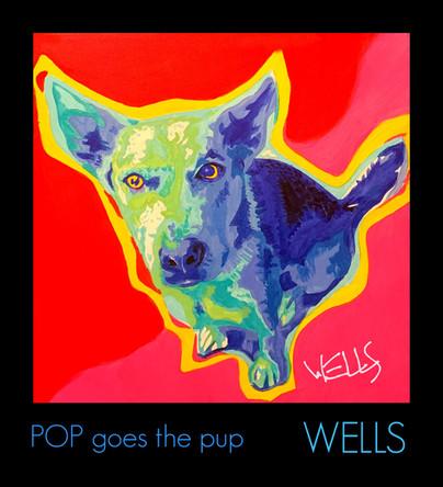 Stacey Wells Pop art Pup