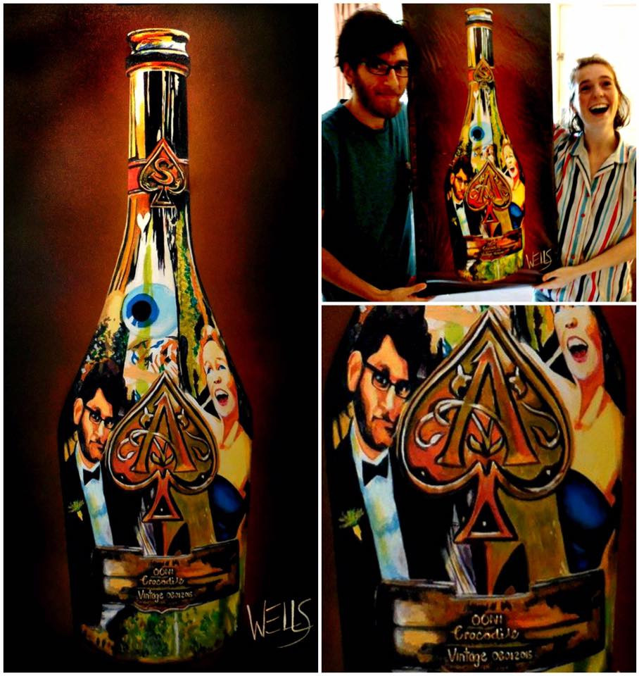 ABC'S of unique gifts, Anniversaries, Birthdays Christmas and of course Weddings, commemorate your special moment.A gift that truly says I love you. Capture time in a Bottle. Send a message in a bottle to the one you love, Order a Wells,paintings of wine bottles reflecting good times had with music and wine.
