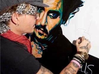 Johnny Depp signs a WELLS original
