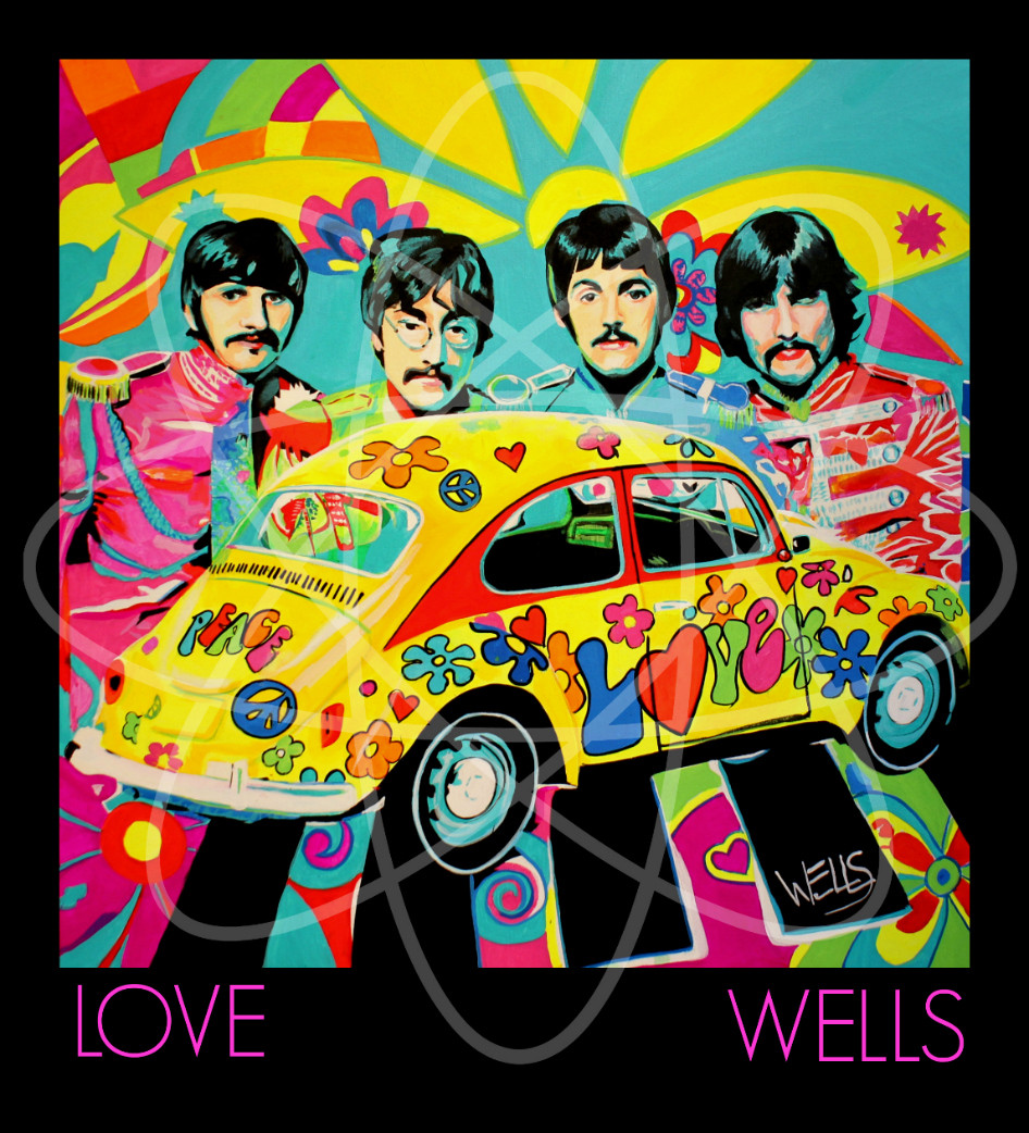 Stacey Wells POP art of the Beatles
