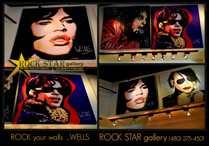 Stacey Wells rocks the ROCK STAR gallery