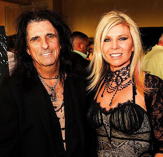 Stacey Wells with Alice Cooper