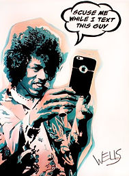 Stacey Wells Rock Star Art Jimi Hendrix