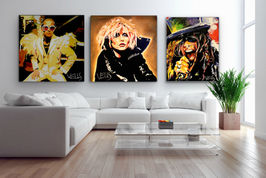 Art on Walls Elton Blondie and Steven Ty