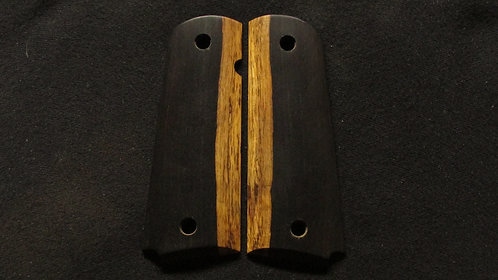 1911 Full Size African Blackwood grips # 25