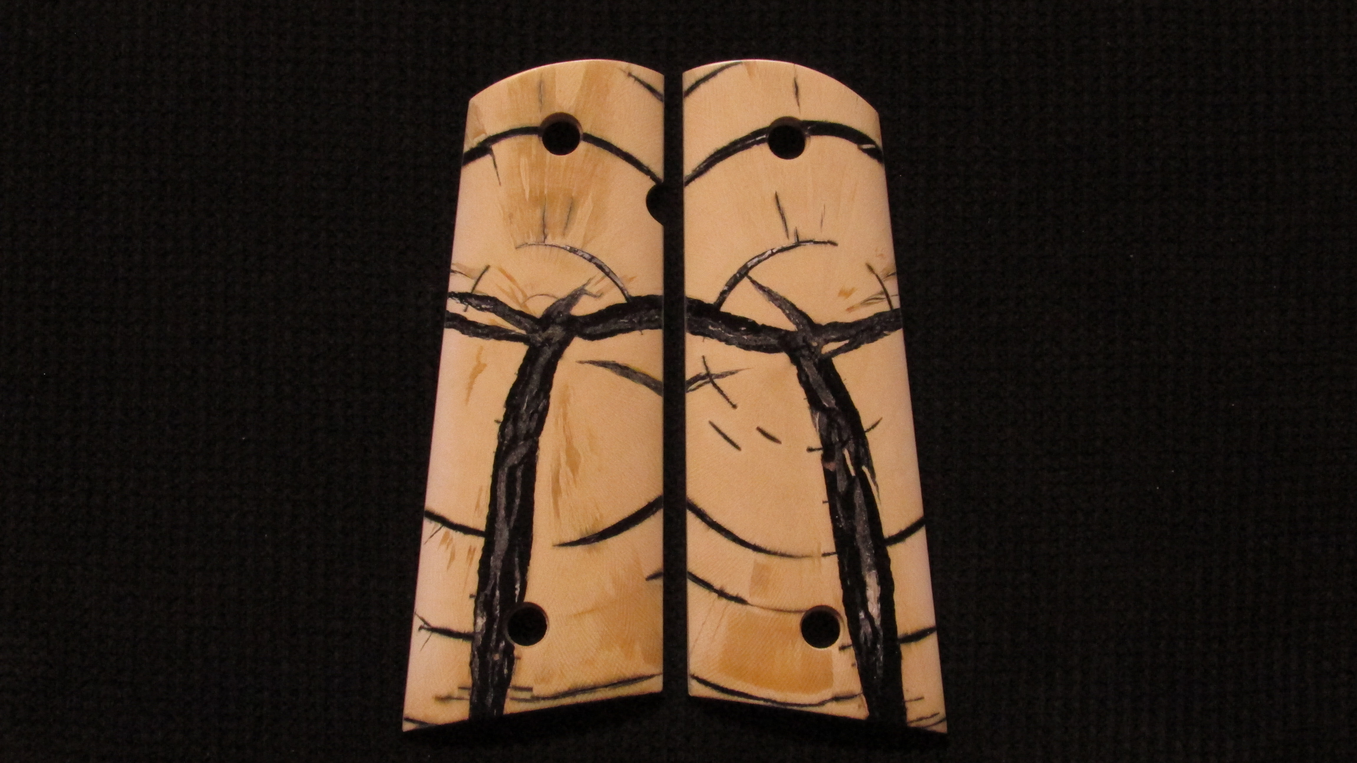 1911 Full size Crosscut Mammoth Ivory grips #229