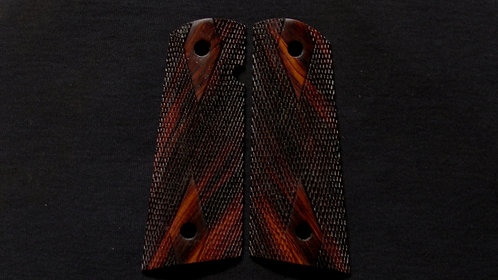 Les Baer Full Size Double Diamond  1911 Cocobolo Magwell grips #4