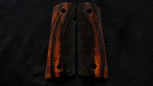 Full Size Double Diamond 1911 Ironwood Magwell grips #6