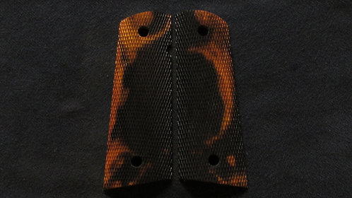 1911 Full Size Full Checkered  Ironwood Magwell grips #2