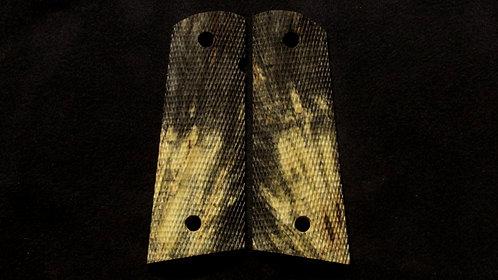 1911 Full Size Full Checkered Buckeye Burl #5