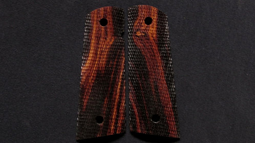 Full Size Full Checkered 1911 Ironwood Magwell grips #57