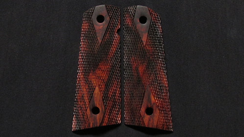 Full Size Double Diamond 1911 Cocobolo  Magwell grips #2