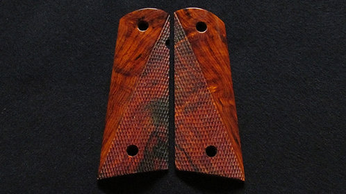 1911 Full Size Half Checkered Cocobolo grips #6