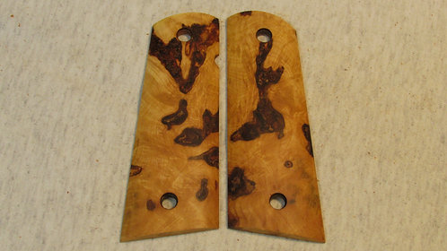 1911 Full Size Maple Burl Magwell grips #55