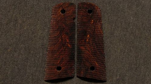 1911 Full Size Full Checkered  Cocobolo Magwell grips #226