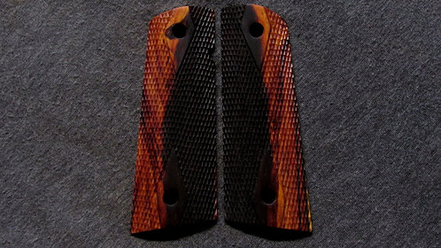 1911 Full Size Double Diamond  Cocobolo Magwell grips #10